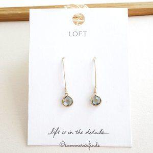 LOFT Pull Through Stone Drop Earrings